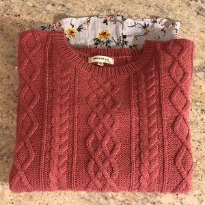 Layered sweater